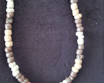 Wood Bead, Shades of Brown Necklace
