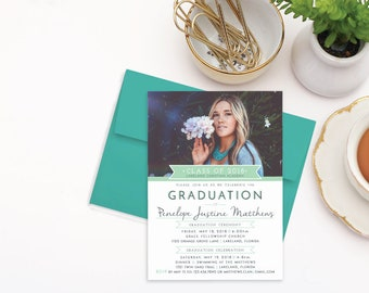 High school graduation invitation  College graduation party invitations 2018  Graduation announcements  Class of 2018 graduation invitations