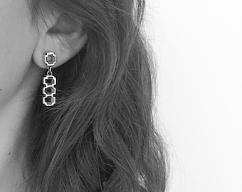 """Earrings  """"Celosía"""" Collection - Sterling Silver"""
