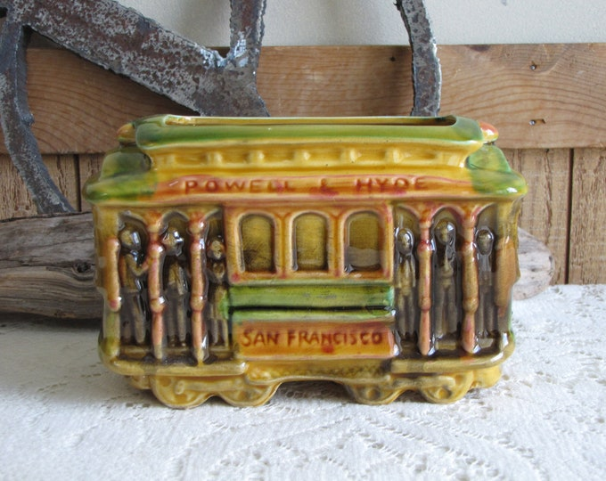 San Francisco Trolley Planter SNCO Imports Vintage Planters and Pots