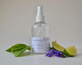 Sweet Basil + Citrus Room Spray, Bathroom Spray, Linen Spray, Body Spray, Handmade, Organic, Wholesale, Bulk