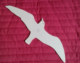 Cut Seagull in the medium 3 mm, and hand painted.