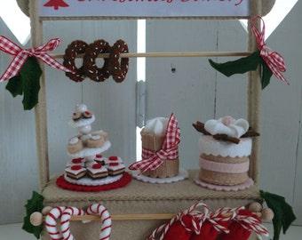 The Christmas Bakery - De kraam. Handwerkpaket zonder de Muis.