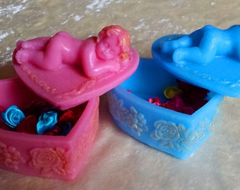 mold mold mold silicone mold, two molds, soap. soap mold. mold jewelry box with baby, Mold baby, molds, candle mold, handmade mold