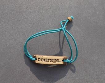 Handmade Pottery Bracelets by MudLove(gift idea, family, endurance, courage, encouragement, inspirational, handmade jewelry, boho, gypsy