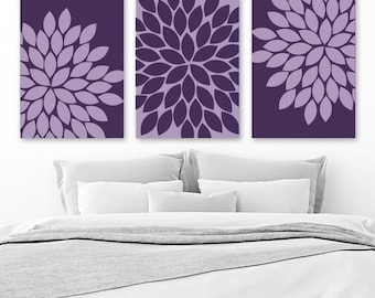 PURPLE Wall Art, Purple Bedroom Wall Decor, CANVAS Or Prints, Purple  BATHROOM Decor