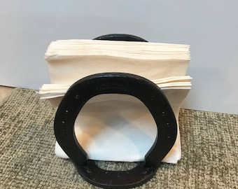 Hand Made Horse Shoe Napkin Holder by AC