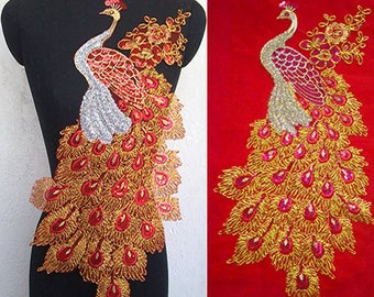 Phoenix vintage embroidred applique clothing decoration patch