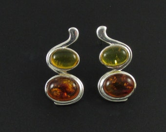 Sterling Silver Earrings, Amber Earrings, Sterling Earrings, Silver Earrings