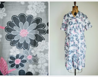 Vintage 50s Shirtwaist Dress | 1950s Voluptuous 3X Dress