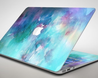 Bright Absorbed Watercolor Texture - Apple MacBook Air or Pro Skin Decal Kit (All Versions Available)