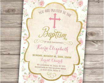 Baptism Printable Invitations NV893