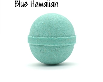Blue Hawaiian Bath Bomb | Blue Hawaiian Goat Milk Bath Bomb Fizzy