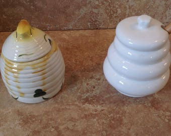 ceramic honey pots with lids