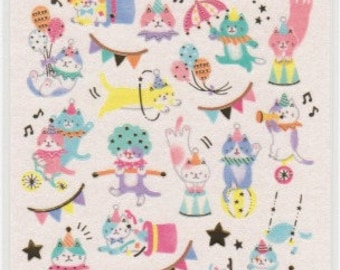 Cat Stickers - Circus Cats - Neko Stickers - Mind Wave Stickers -  Reference A6528-30