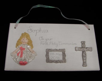 Personalised Gift,  Holy Communion Gift, Personalised Plaque, Boy Communion Gift, Girl Communion Gift, First Communion,