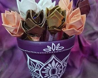 Flower Pot Pen Set