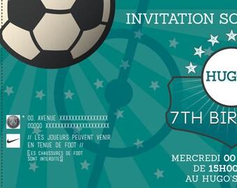 For a Football birthday invitation card