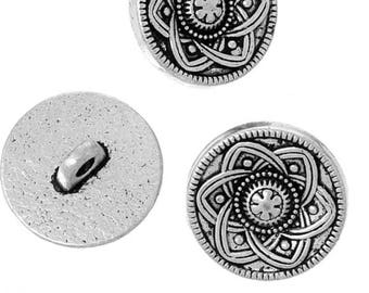 Elegant buttons metal silver.