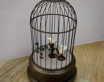 SOLD SOLD SOLD Modernised  German Antique Singing Bird Cage