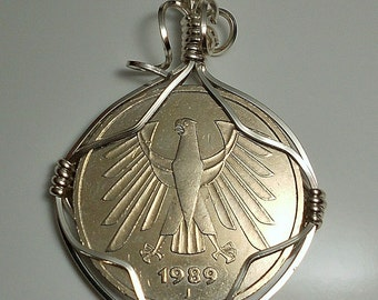 Germany Vintage Coin Pendant 1989