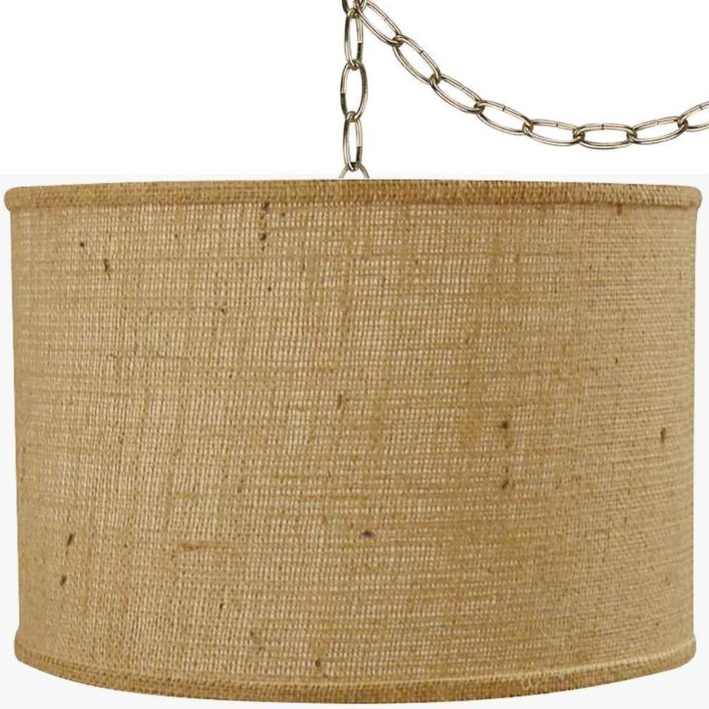 Rustic vintage antique burlap swag lamp pendant light hanging zoom arubaitofo Choice Image