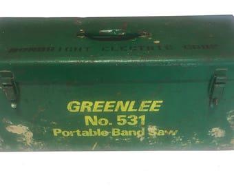 """Vintage Greenlee Metal Toolbox 24.5"""" x 9.75"""" x 10.75"""""""