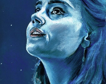 Clara Oswald - The Impossible Girl - Original Pastel Drawing by Chantal Handley