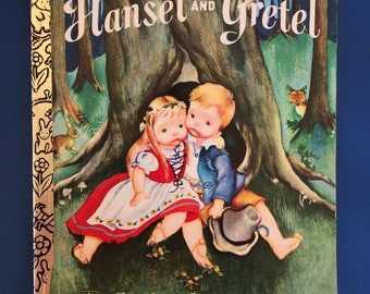 Hansel and Gretel Vintage 1977 Little Golden Book softcover illustrated by Eloise Wilkin