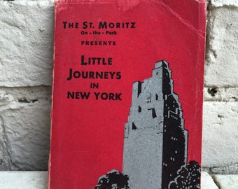 1935 New York guide by the St Moritz Hotel