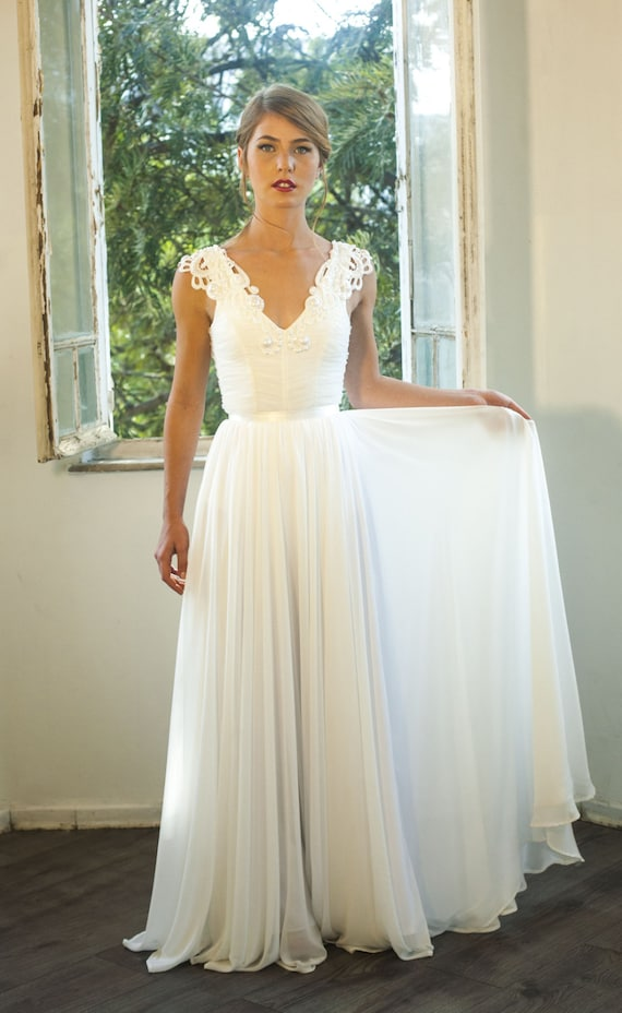 Romantic Vintage Inspired Lace Wedding Dress Custom Made - Romantic Lace Wedding Dress