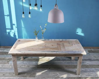 Timber table in cottage style Roos 200 x 100 cm