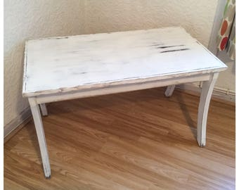 Rustic Reclaimed White Coffee Table Country Shabby Chic