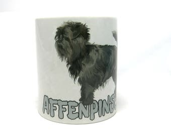 Affenpinscher Mugs, Monkey Terrier Dog, Affenpinscher Gifts