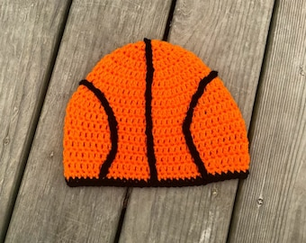 Crochet basketball sports beanie hat