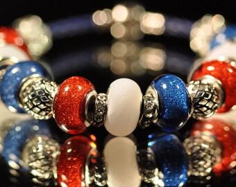 Patriotic Sparkler ~ Bracelet