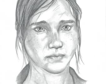 Ellie The Last Of Us High Quality Art Print