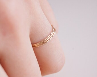 Soft Thin stacking Rings x 3 - Gold filled 14kt