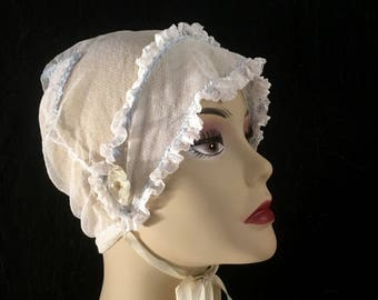 Vintage Antique Bonnet Embroidered Bonnet Net Women's Cap