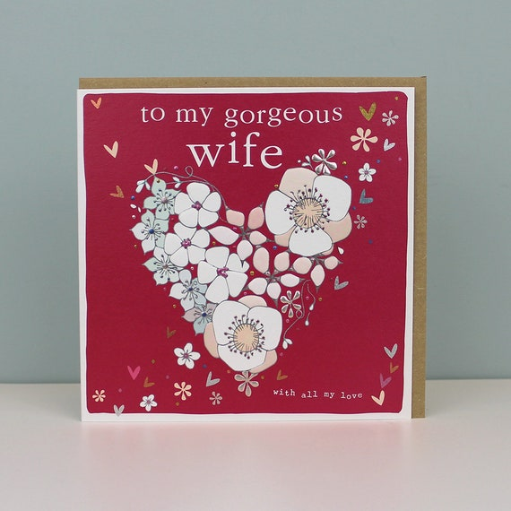 Wife Birthday Card Card For Wife Romantic Card For A Wife