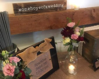 Wedding/Party #  Hashtag Sign