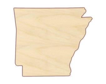 Arkansas State Shape - State of Arkansas - Unfinished wood, various sizes