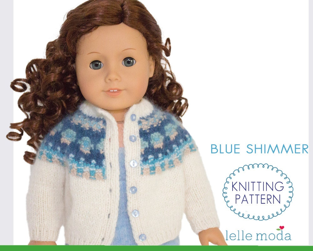 18 inch Doll Clothes Knitting Pattern Doll Cardigan fits
