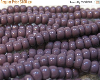 ON SALE 6/0 Purple Opaque Genuine Czech Glass Preciosa Rocaille Seed Beads 11 grams