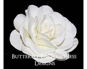 Mini Ivory Gwyneth Gardenia Bridal Hair Flower Clip