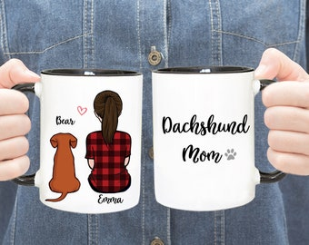 ersonalized Dachshund Mug, Dachshund Mug, Dachshund Mom Mug, Dachshund Dad Mug, Gift For Dog Mom,Gift For Dog Dad, Gift For Dachshund Lover