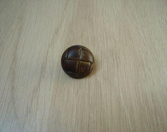 tail faux leather plastic button