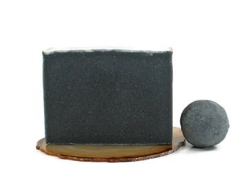 Charcoal Tea Tree Soap | Facial Soap, Acne Soap, Cold Process Soap, Vegan Soap, Skin Care, Activated Charcoal, Black Soap, Soap for Acne