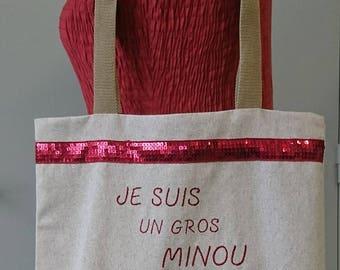 Tote bag my love of cat