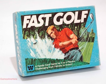 Fast Golf Card Game from Whitman 1977 COMPLETE